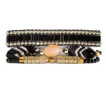 Armband Lana-Mini aus vergoldetem Zink, Stoff & Kunststoff-180 mm