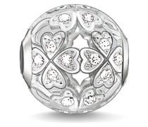 Charm aus Sterling Silber mit Zirkonia