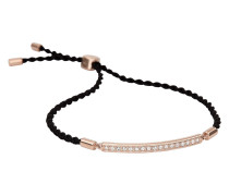 Armband aus Edelstahl & Stoff