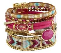 Armband Cerise aus Metall, Kunststoff & Stoff