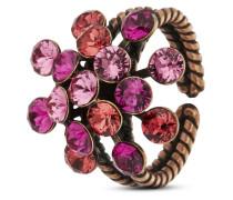 Ring Magic Fireball aus Metall mit Glassteinen