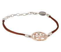 Armband aus Stoff & 925 Sterling Silber