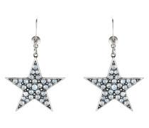 Ohrhänger Dancing Star aus Metall mit Glassteinen