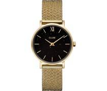Damenuhr Minuit Special Mesh, Gold, Bla CG10201