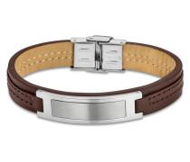 Armband Urban aus Leder & Edelstahl