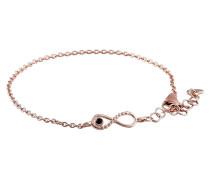 Armband aus rosévergoldetem 925 Sterling Silber mit Spinell