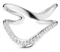 Ring Fluid Curves aus 925 Sterling Silber mit Topasen