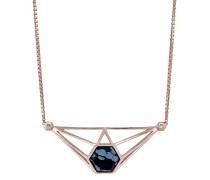 Halskette aus rosévergoldetem 925 Sterling Silber mit Obsidian