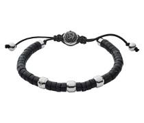 Armband Beads aus Edelstahl & Stoff mit Achaten