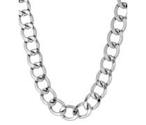 Halskette Chain Reaction versilbert