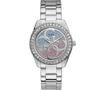 Guess Damen-Uhren Analog Quarz