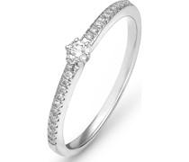 Damenring 585er Weißgold 1 Diamant