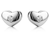 Ohrstecker aus 925 Sterling Silber mit 0.06 Karat Diamanten