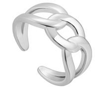 Damenring Wide Curb Chain Adjustable 925er Silber