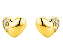 Ohrstecker aus 375 Gold mit 0.02 Karat Diamanten