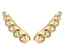 Ear Cuffs Aiko aus Edelstahl mit Kristallen