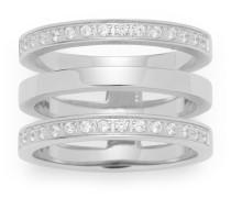Ring Fashion Minimo aus Edelstahl mit Kristallen-53