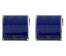Manschettenknöpfe aus 925 Sterling Silber mit Lapislazuli