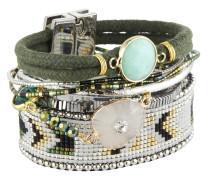 Armband Cypress aus Metall, Kunststoff & Stoff