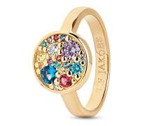 Ring Novara aus vergoldetem 925 Sterling Silber mit Zirkonia-56