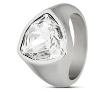 Ring aus Edelstahl mit Swarovski-Stein