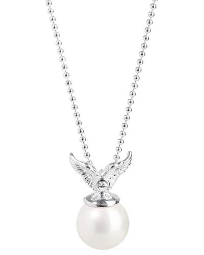 Halskette Mini's aus 925 Sterling Silber mit Muschelkernperle & Zirkonia