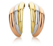 Creolen aus 375 Tricolor-Gold