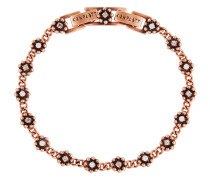 Armband Pearl 'n' Ribbons aus Metall mit Glassteinen