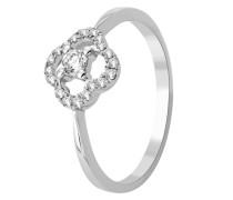 Ring aus 375 Weißgold mit 0.2 Karat Diamanten-52