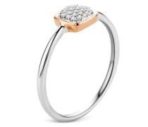 Ring aus 375 Bicolor-Gold mit 0.06 Karat Diamanten-52