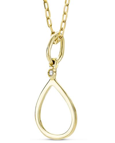 Halskette aus 375 Gold mit Diamant