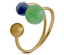 Ring Morena vergoldet mit Amazonit