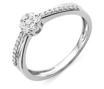 Ring aus 375 Weißgold mit 0.25 Karat Diamanten-58