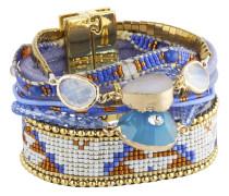 Armband Cobalt aus Metall, Kunststoff & Stoff