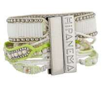 Armband Limon aus Messing & Stoff