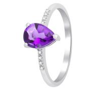 Ring aus 375 Weißgold mit Diamanten & Amethyst-52
