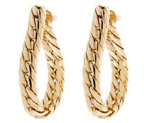 Ohrhänger Curb Chain Messing vergoldet