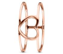 Ring Hearts <3 aus rosévergoldetem 925 Sterling Silber-50