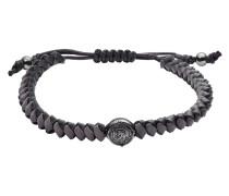 Armband Stackables aus Leder, Edelstahl & Stoff