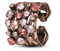 Ring Cages aus Metall mit Glassteinen