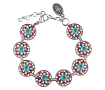 Armband Dream Catcher aus Metall mit Glassteinen