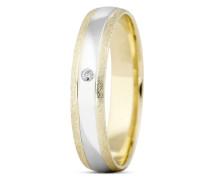 Ring aus 333 Bicolor-Gold mit Diamant-50