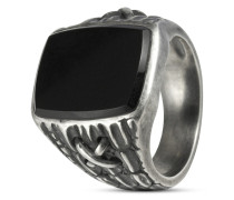 Ring aus 925 Sterling Silber mit Onyx-61