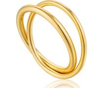 Damenring Modern Double Wrap Ring 925er Silber