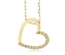Halskette aus 375 Gold mit 0.1 Karat Diamanten