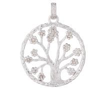 Anhänger Lebensbaum rund 925 Silber