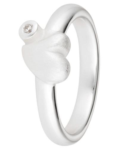 Ring Love 925 Sterling Silber-Zirkonia