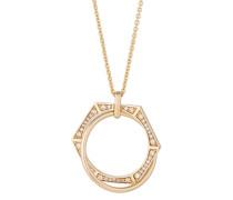 Halskette Edged aus vergoldetem 925 Sterling Silber