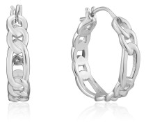 Creole Figaro Chain Hoop 925er Silber