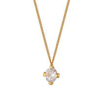 Halskette aus vergoldetem 925 Sterling Silber mit Zirkonia